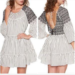 NWT Free People Lola Embroidered Mini Dress